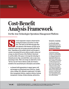 Avue Cost-Benefit Analysis Framework
